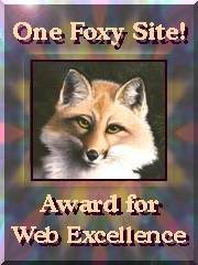 One Foxy Site! Award for Web Excellence